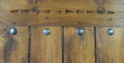 SOLD Door with Clavos & Carving