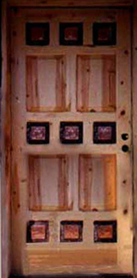 Custom Doors - Door with Copper Panels
