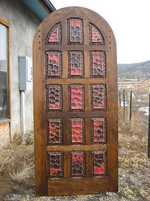 Exterior Doors - Copper 15 Panel Round Top