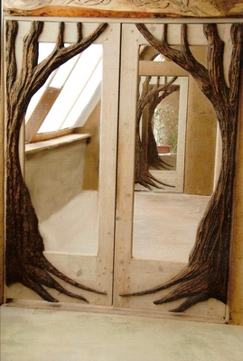 Custom Doors - Branch Design Double Door