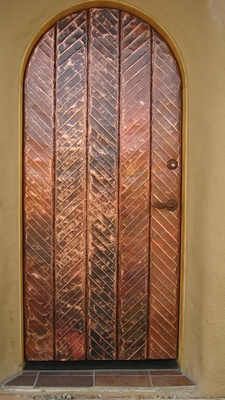 Exterior Doors - Copper Herringbone
