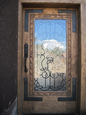 Exterior Doors - Forged Corner Brackets