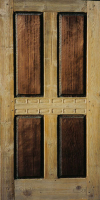 Custom Doors - Taos Canyon Four Panel Copper Door