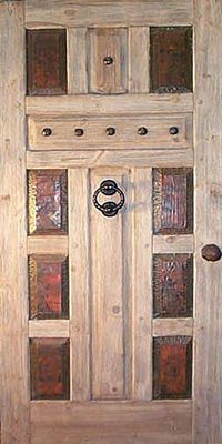 Custom Doors - Copper Cross Door