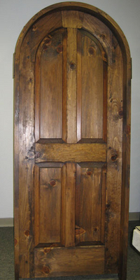 Exterior Doors - Four Panel Round Top Door